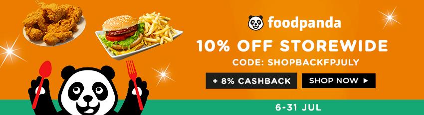 10% off min. spend $30 with code: SHOPBACKFPJULY + 8% Cashback!