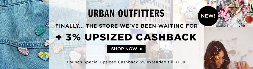 Urban Outfitters: New 3% Upsized Special till 31 Jul