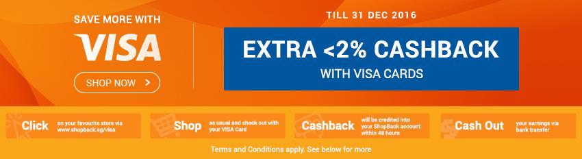 Visa Extra <2% Upsized Cashback!