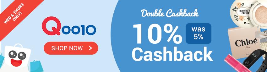 Qoo10 10% Cashback