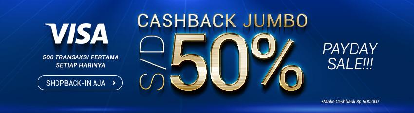 Promo Payday Sale VISA 50%