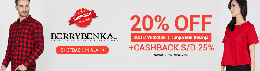 Promo Exclusive Berrybenka x ShopBack