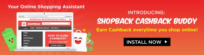 Cashback Buddy  - ShopBack Cashback Button